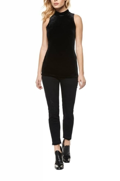 Shoptiques Product: Velvet Mock-Neck Top