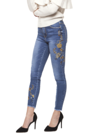 Dex Vintage Embrodiered Jeans - Product Mini Image