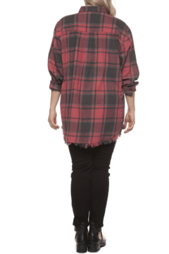 Dex Vintage Red Plaid Top - Alternate List Image