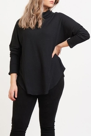 Dex Waffle Cowl Neck Top - Front cropped