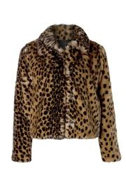 Dex Fuzzy Leopard Jacket - Product Mini Image