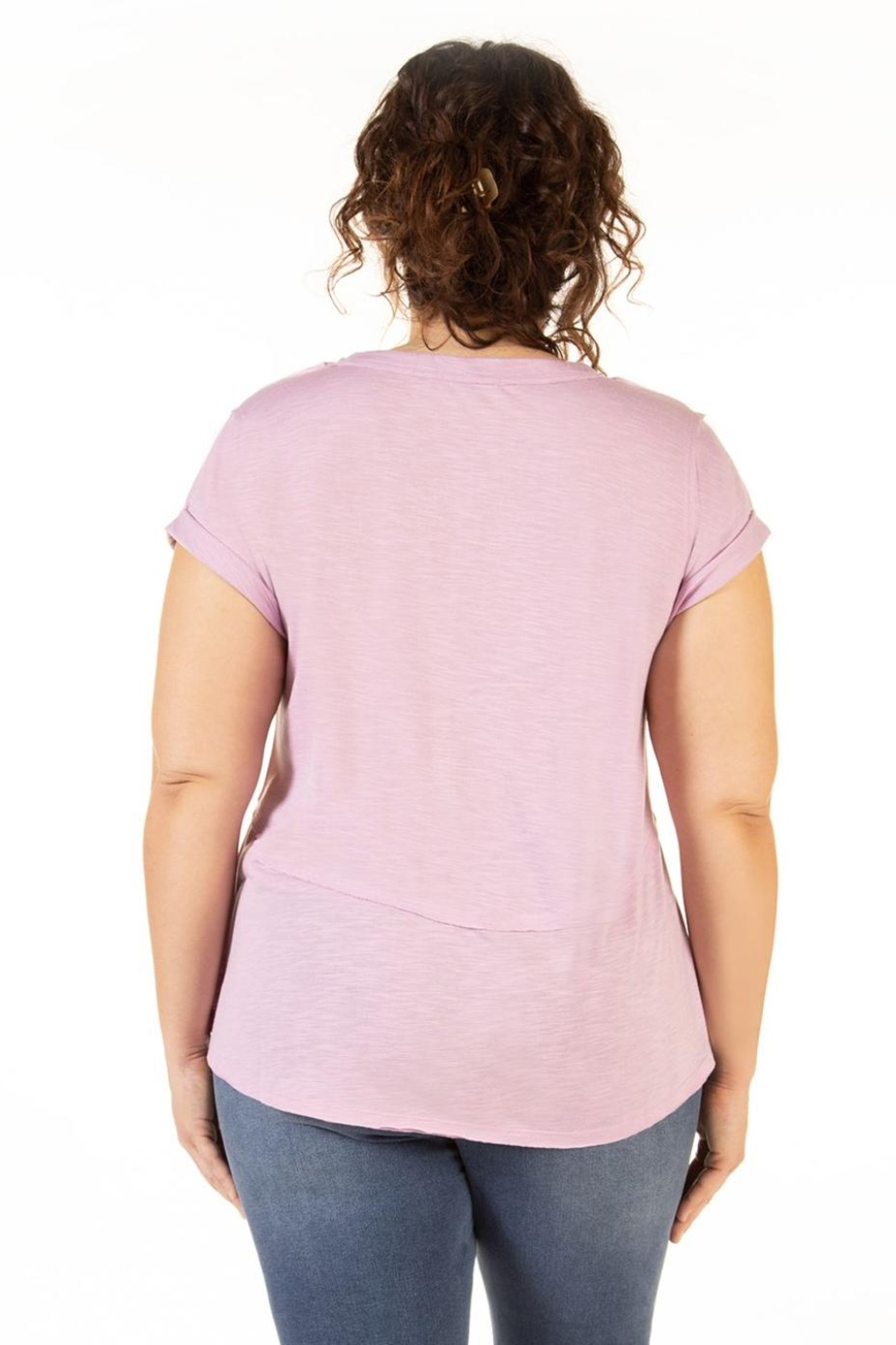 Dex Clothing Short Sleeve Slouchy Tee - Side Cropped Image