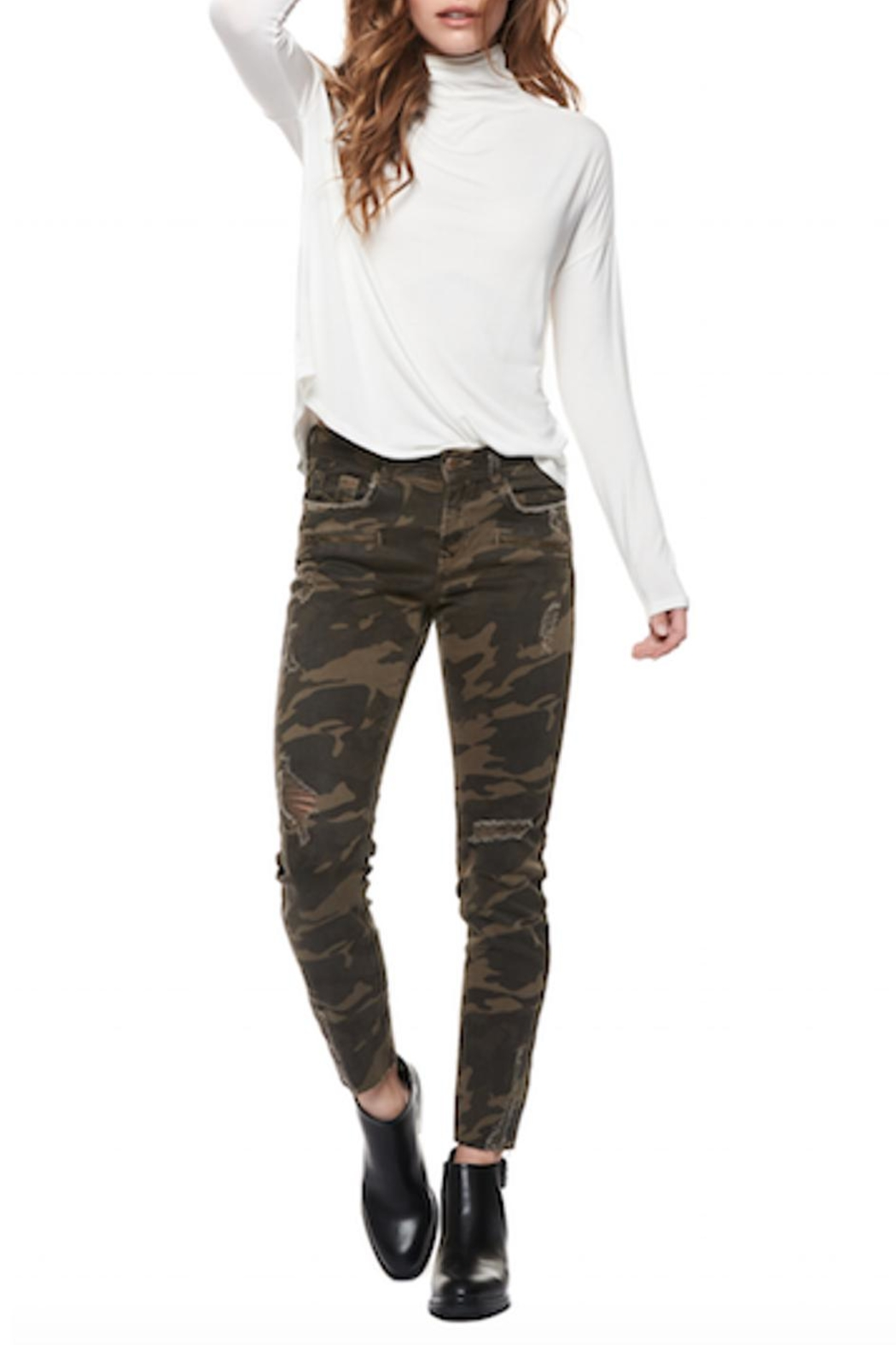 DEX Jeans Camo Skinny Jeans - Back Cropped Image