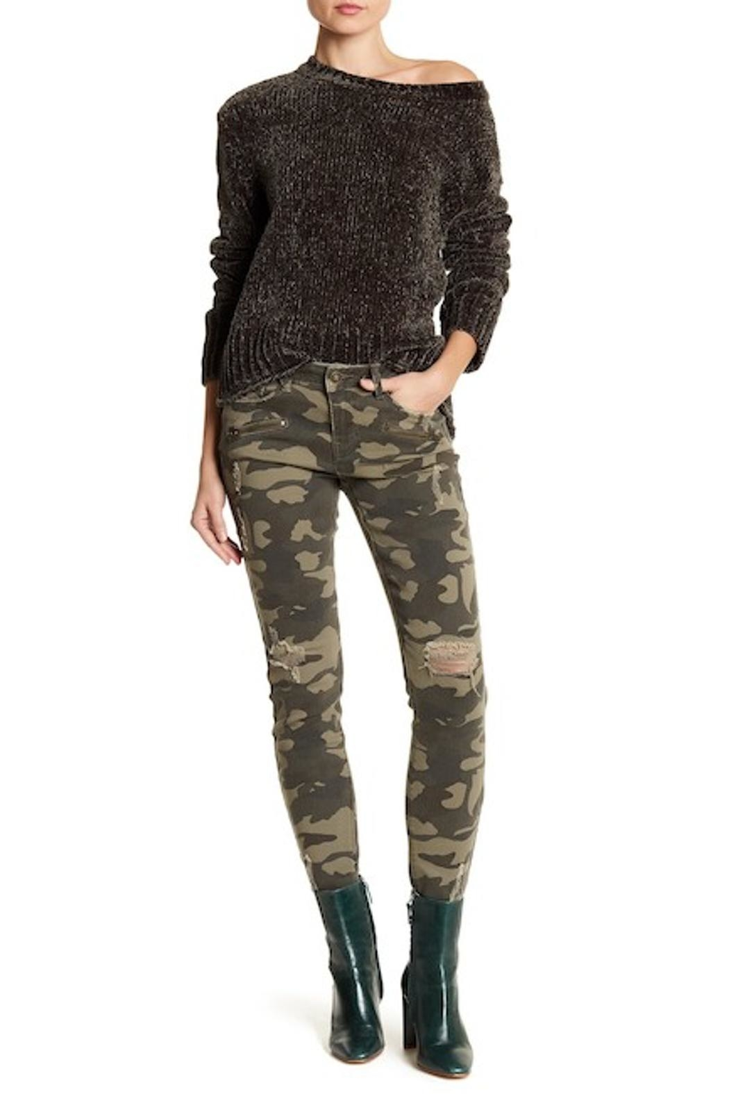 DEX Jeans Camo Skinny Jeans - Side Cropped Image