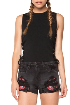 DEX Jeans Embroidered Woven Shorts - Product List Image