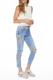 DEX Jeans Floral Ripped Jeans - Product Mini Image