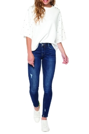 DEX Jeans Lightly Distressed Jeans - Front cropped