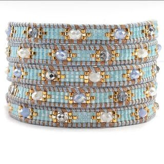 Shoptiques Mint Mix Beaded Bracelet