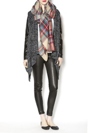 Lola Accessory Boutique Plaid Blanket Scarf - Front cropped