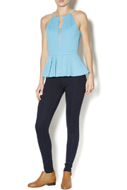 Lyssé Navy Leggings - Front full body