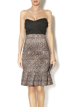 Byrds Fitted Cheetah Print Dress - Product List Image