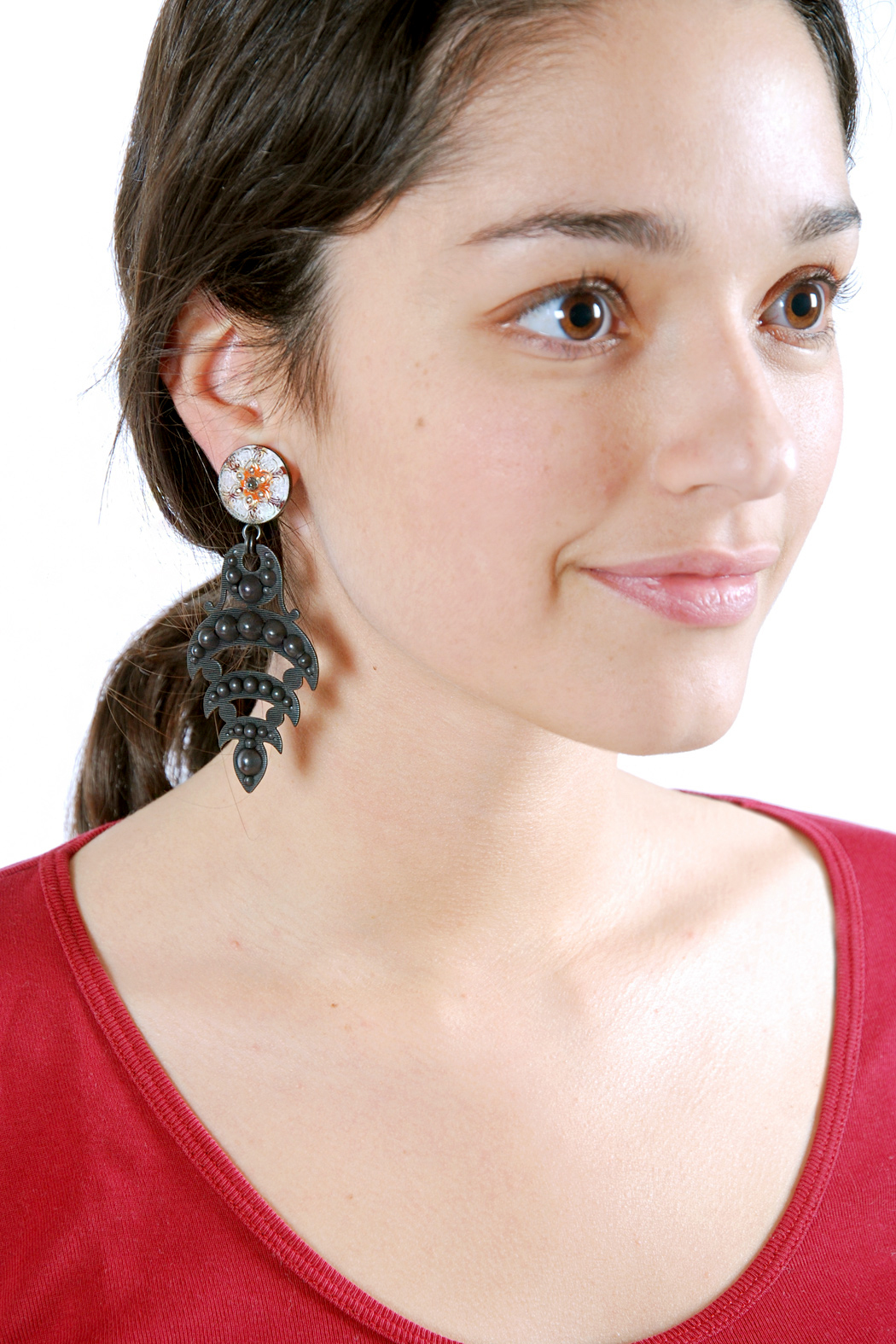 Jean-Louis BLIN Tiered Hanging Earrings - Front Full Image