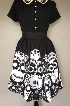 Steady Clothing Dia-De-Los-Muertos Skirt - Product List Image