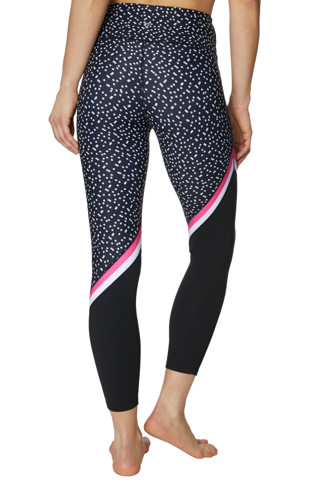 Betsey Johnson Diagonal Colorblock Printed 7/8 Legging - Side Cropped Image