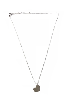 Cool and Interesting Diagonal Heart Necklace - Alternate List Image