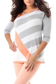 Angel Apparel Diagonal Striped Top - Product Mini Image