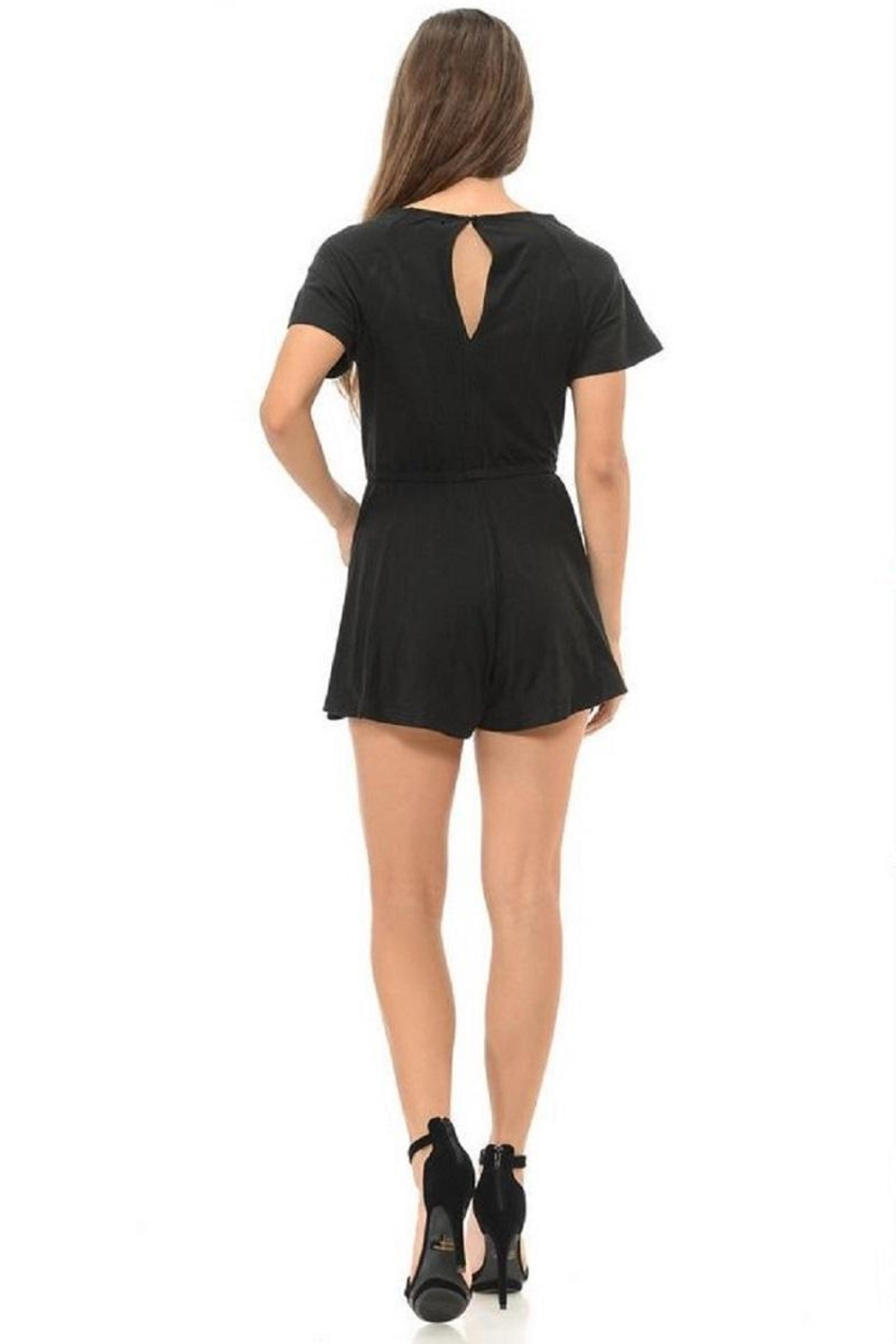 Diamante Black Romper - Side Cropped Image
