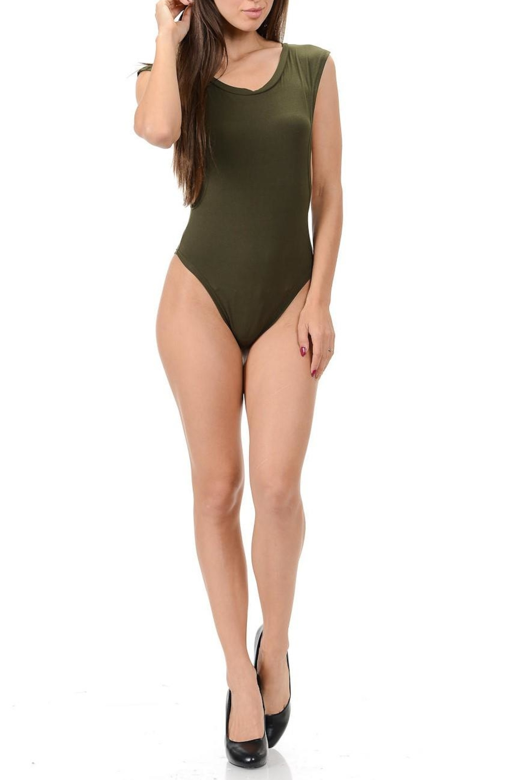 Diamante Embodied Body Suit - Front Cropped Image