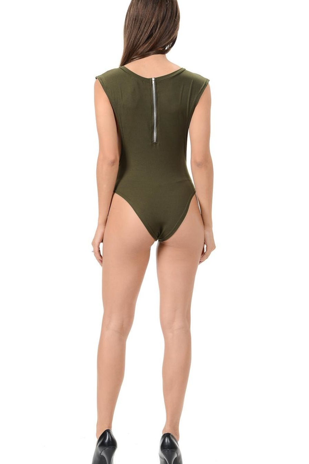 Diamante Embodied Body Suit - Side Cropped Image