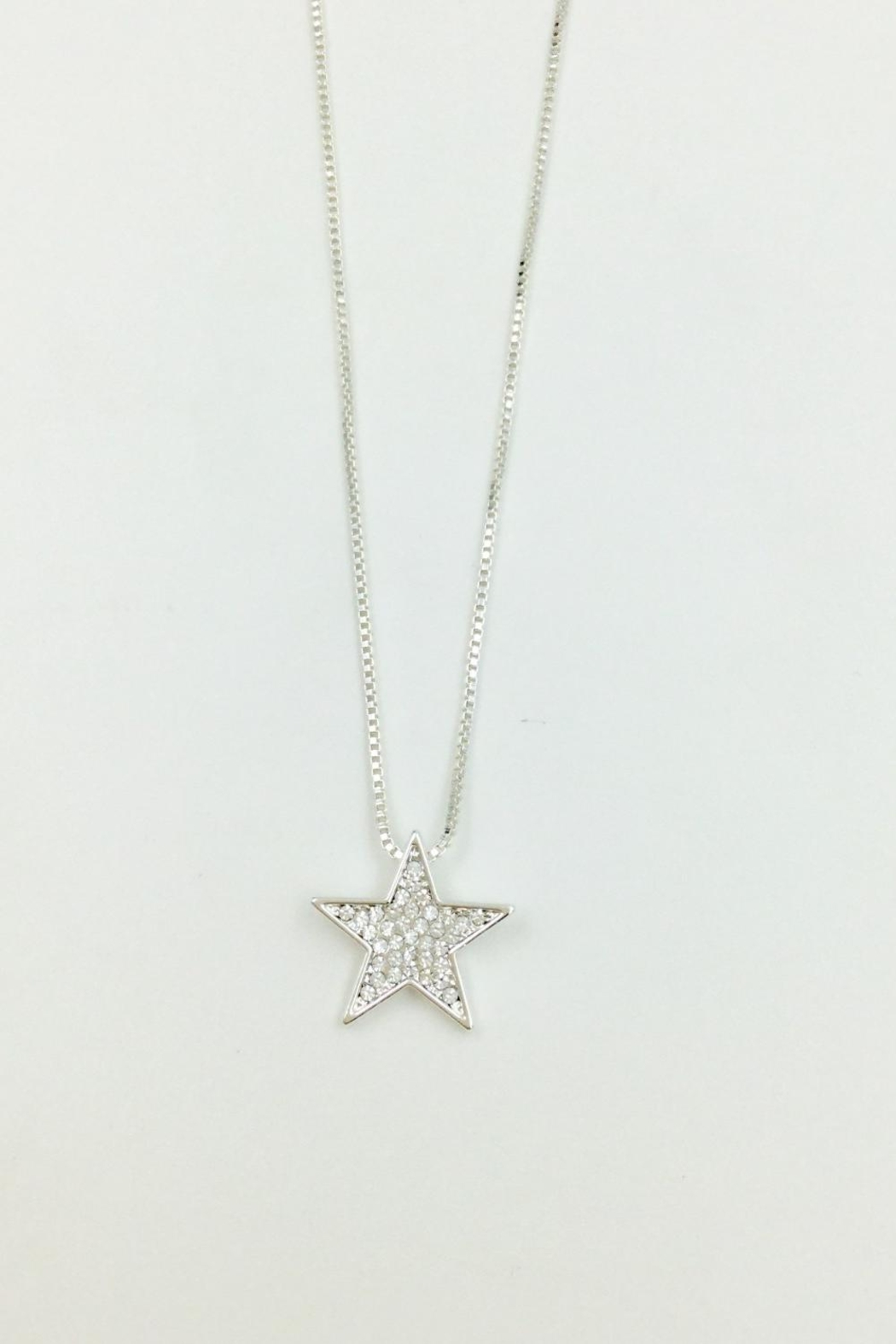 Pink Poodle Boutique Diamante Star Necklace - Front Cropped Image