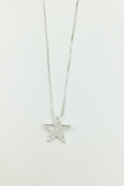 Pink Poodle Boutique Diamante Star Necklace - Front cropped