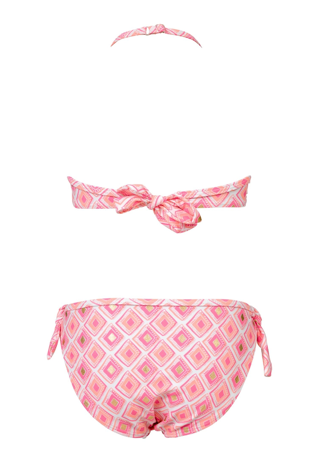 Snapper Rock Diamon Ruffle Bikini-Set - Front Full Image