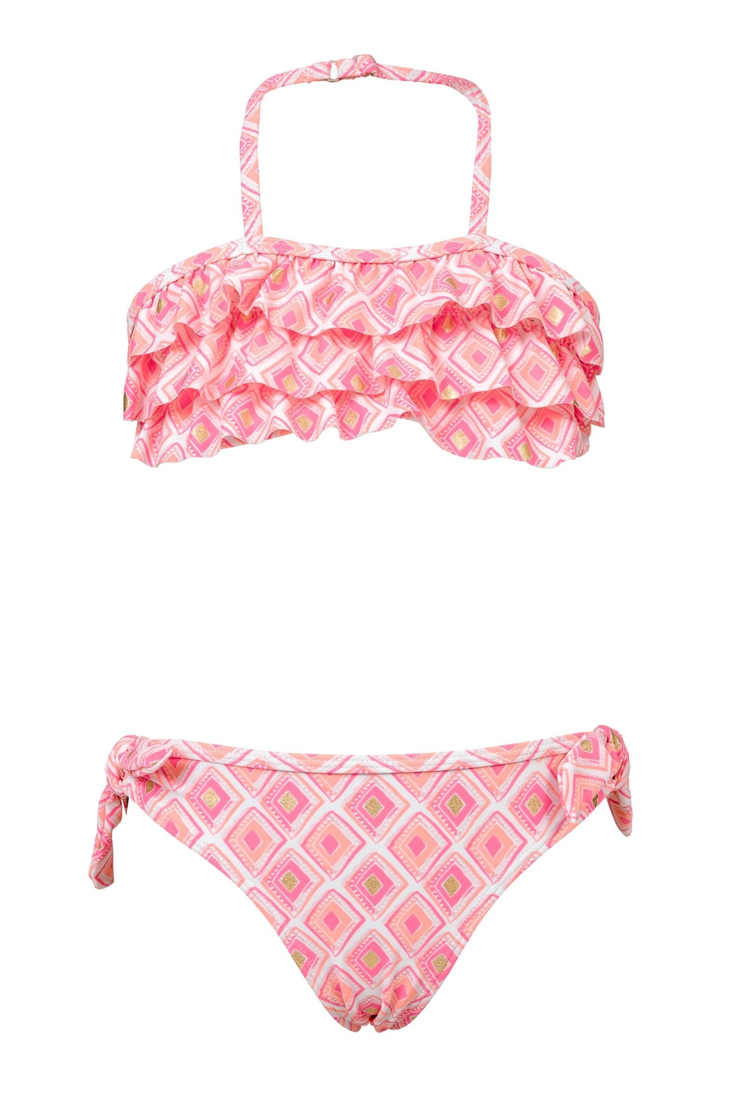 Snapper Rock Diamon Ruffle Bikini-Set - Front Cropped Image