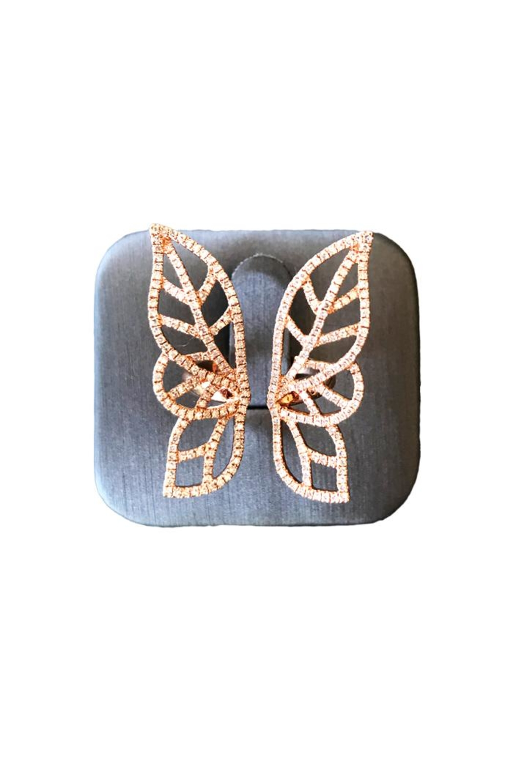 Brigitte & Stone Diamond Butterfly Ring - Front Cropped Image