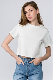 On Twelfth Diamond Button Sleeve Tee - Product Mini Image