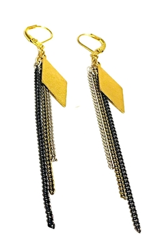 Shoptiques Product: Diamond Chain Earrings