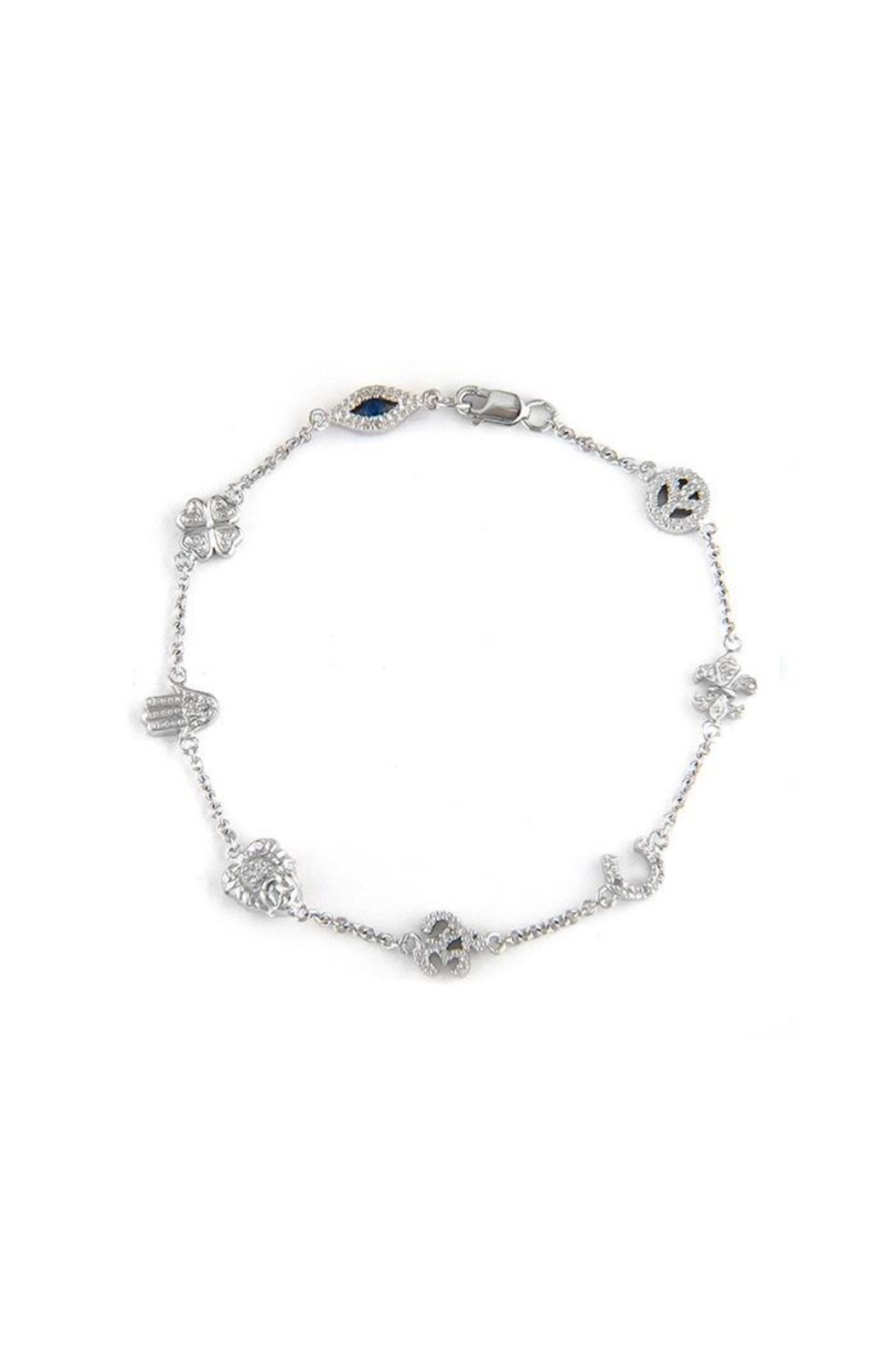 Lets Accessorize Diamond Charm Bracelet - Main Image