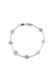 Lets Accessorize Diamond Charm Bracelet - Front cropped