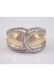 Margolin & Co Diamond Cluster Cocktail Anniversary Band Right Hand Ring Yellow Gold Size 7 - Product Mini Image