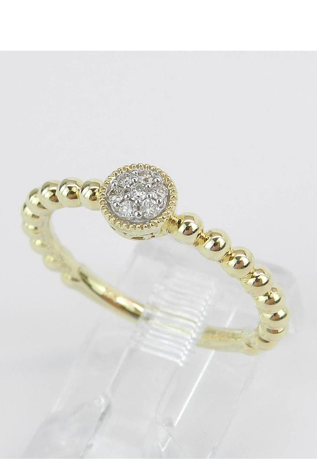Margolin & Co Diamond Cluster Ring, Diamond Midi Ring, Promise Engagement Ring Yellow Gold Size 7 Graduation Gift - Side Cropped Image