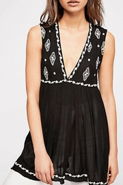 Free People Diamond Embroidered Tank - Front cropped