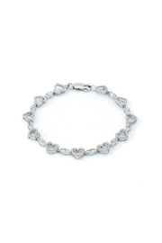 Lets Accessorize Diamond Heart Bracelet - Product Mini Image