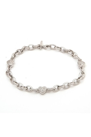 Lets Accessorize Diamond Heart Link-Bracelet - Product Mini Image