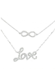 Lets Accessorize Diamond Infinite-Love Necklace - Front cropped