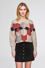 White + Warren Diamond Intarsia Sweater - Product Mini Image