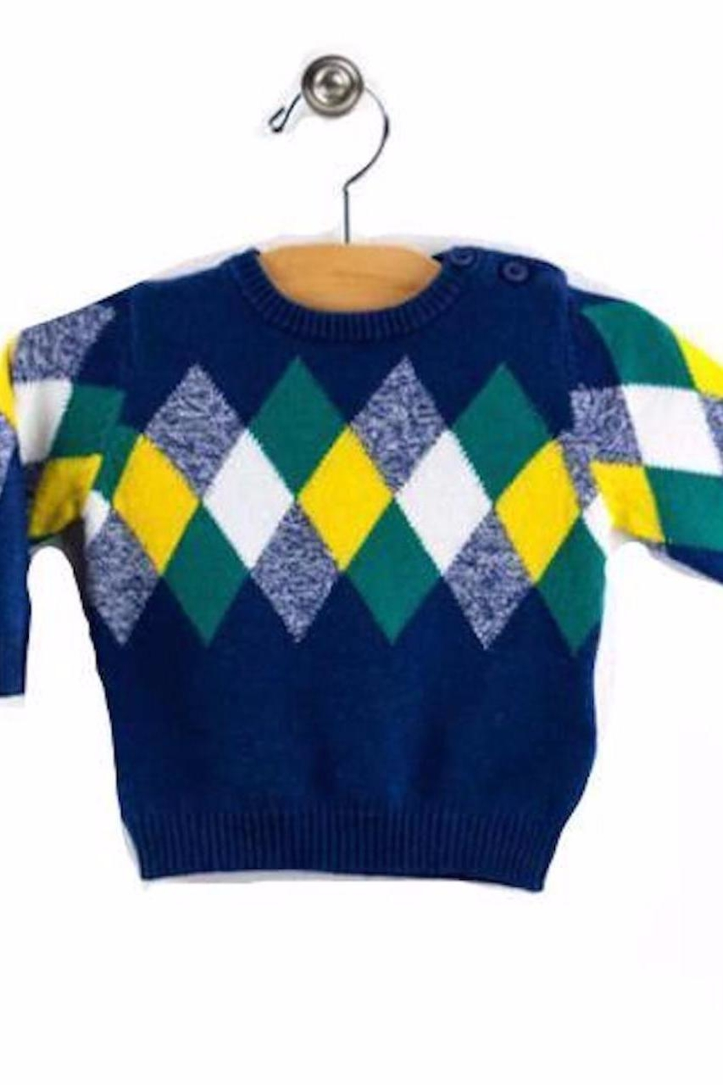 Mayoral Diamond Knit Sweater - Front Cropped Image
