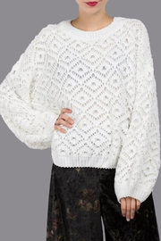 POL Diamond Lace Sweater - Product Mini Image