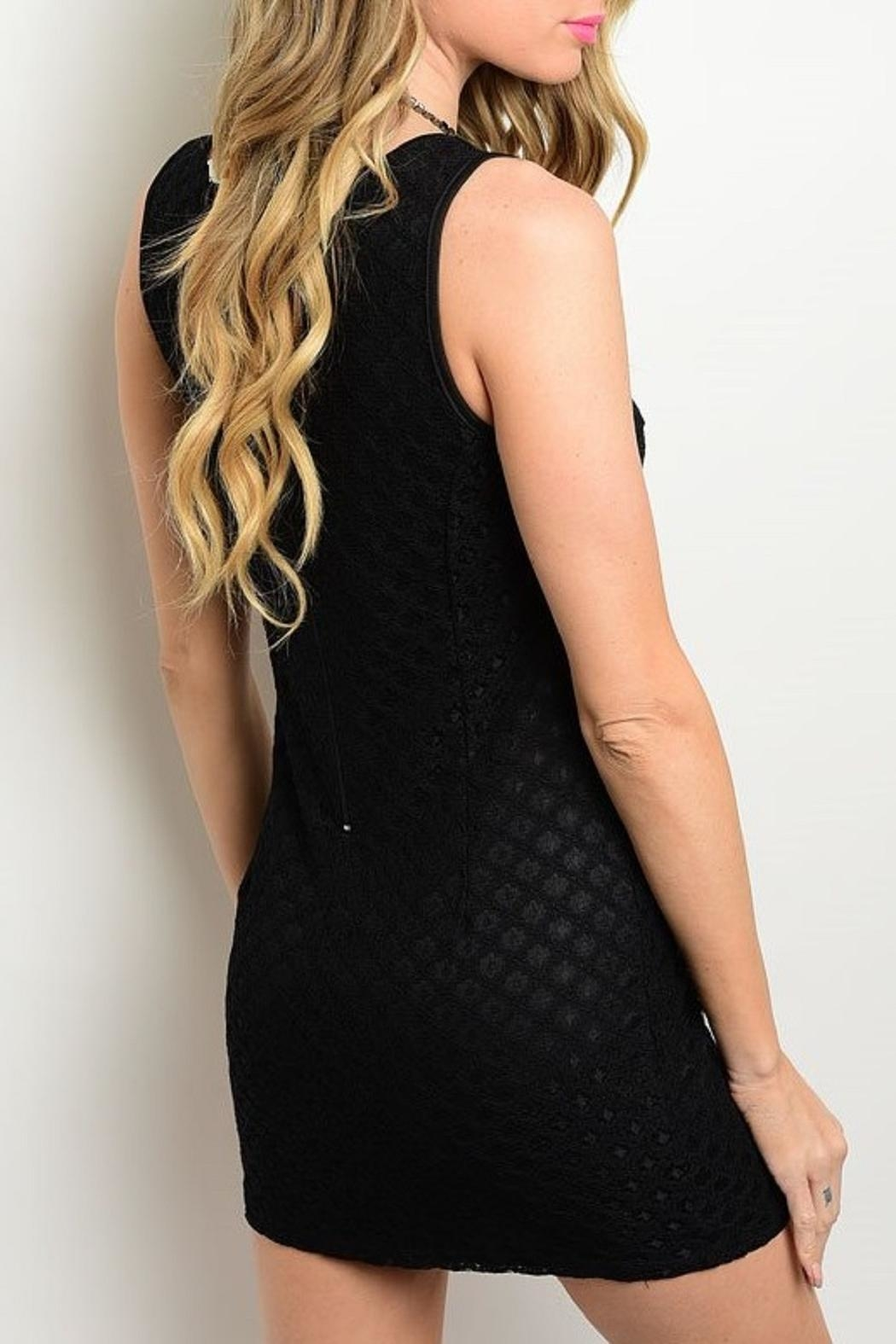 Adore Clothes & More Diamond Pattern Dress - Side Cropped Image
