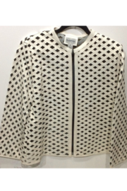 Natto Diamond Pattern Laser-Cut Lambskin Jacket - Product Mini Image