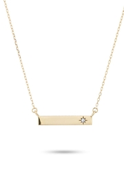 Adina Reyter Diamond-Pave Rectangle-Stamp Necklace - Product Mini Image