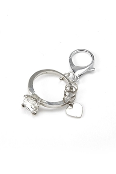 Two's Company Diamond Ring Keychain - Alternate List Image