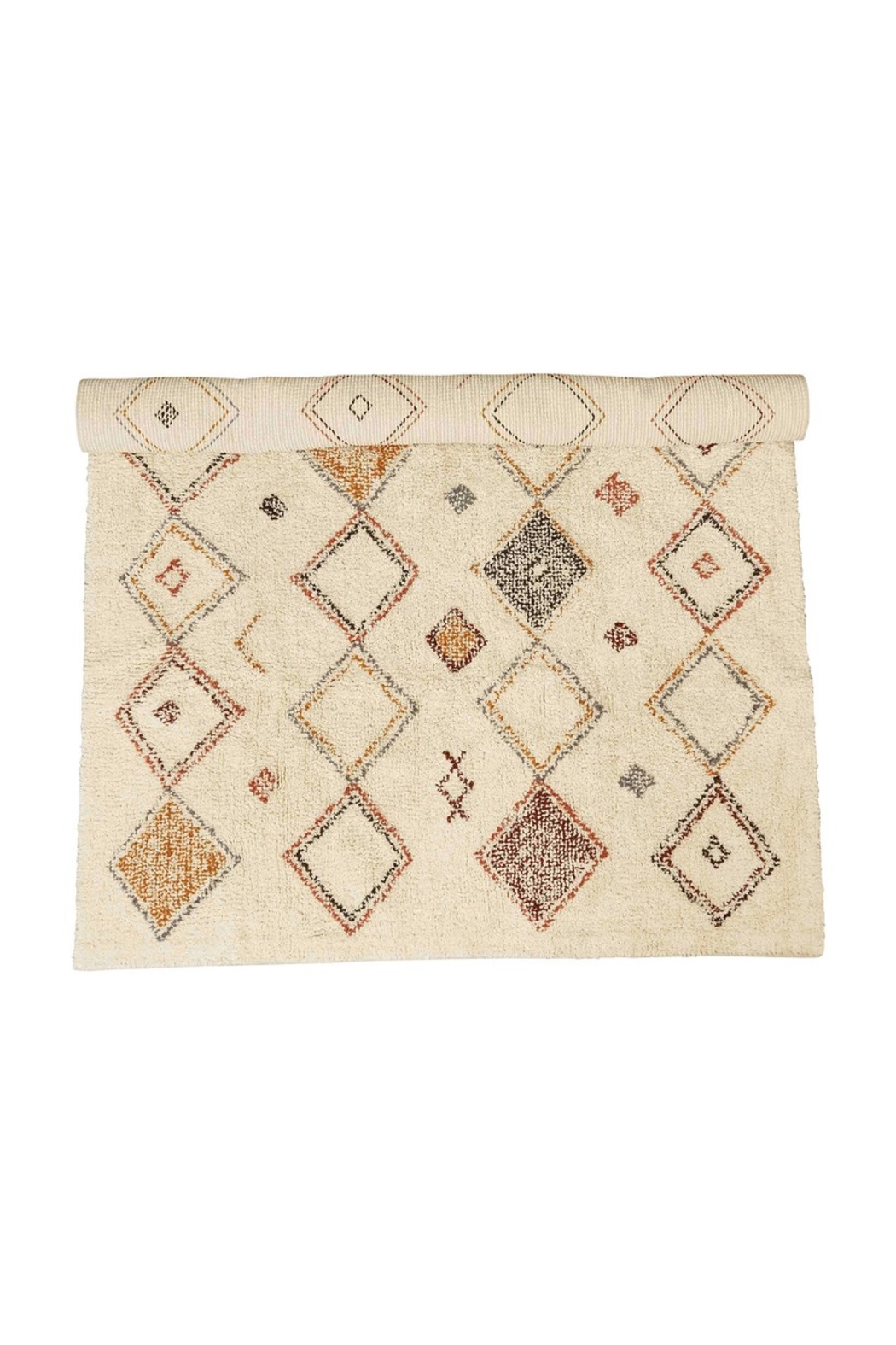 Creative Co-Op Diamond Rug - Front Cropped Image