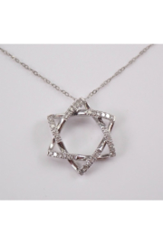 Margolin & Co Diamond Star of David Pendant Necklace White Gold 17