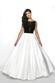 Flair New York Diamond White & Black Bridal Ballgown - Product Mini Image