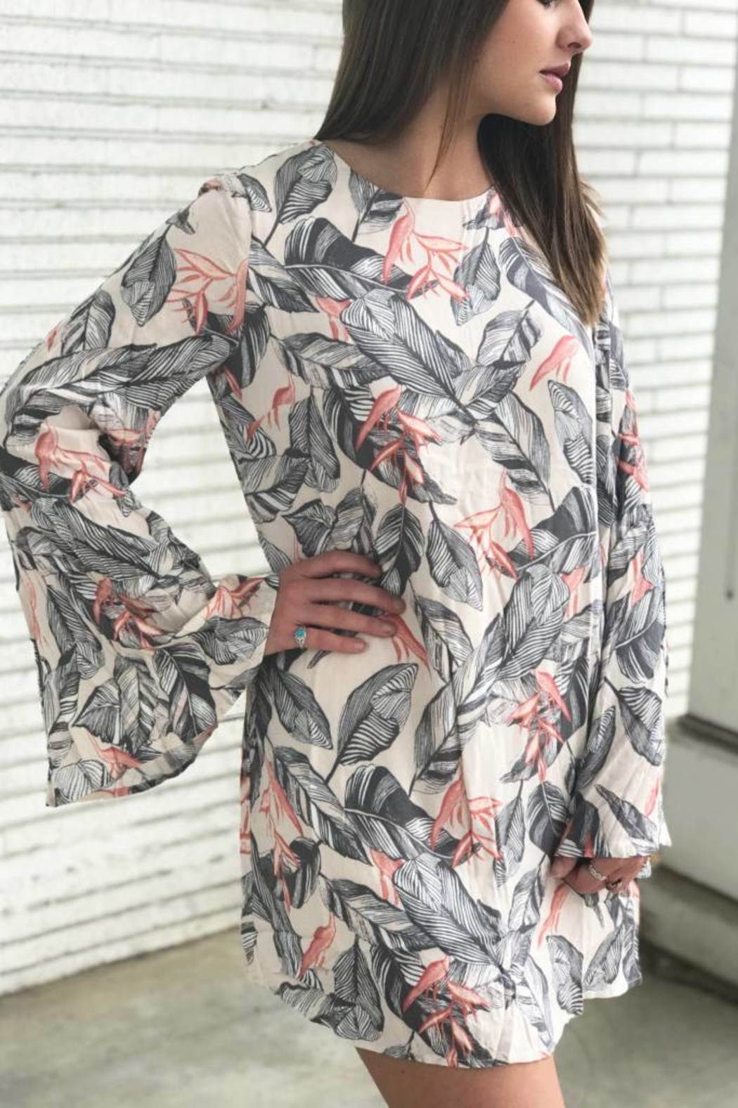 Diamond T Outfitters Peach Shift Dress - Front Full Image