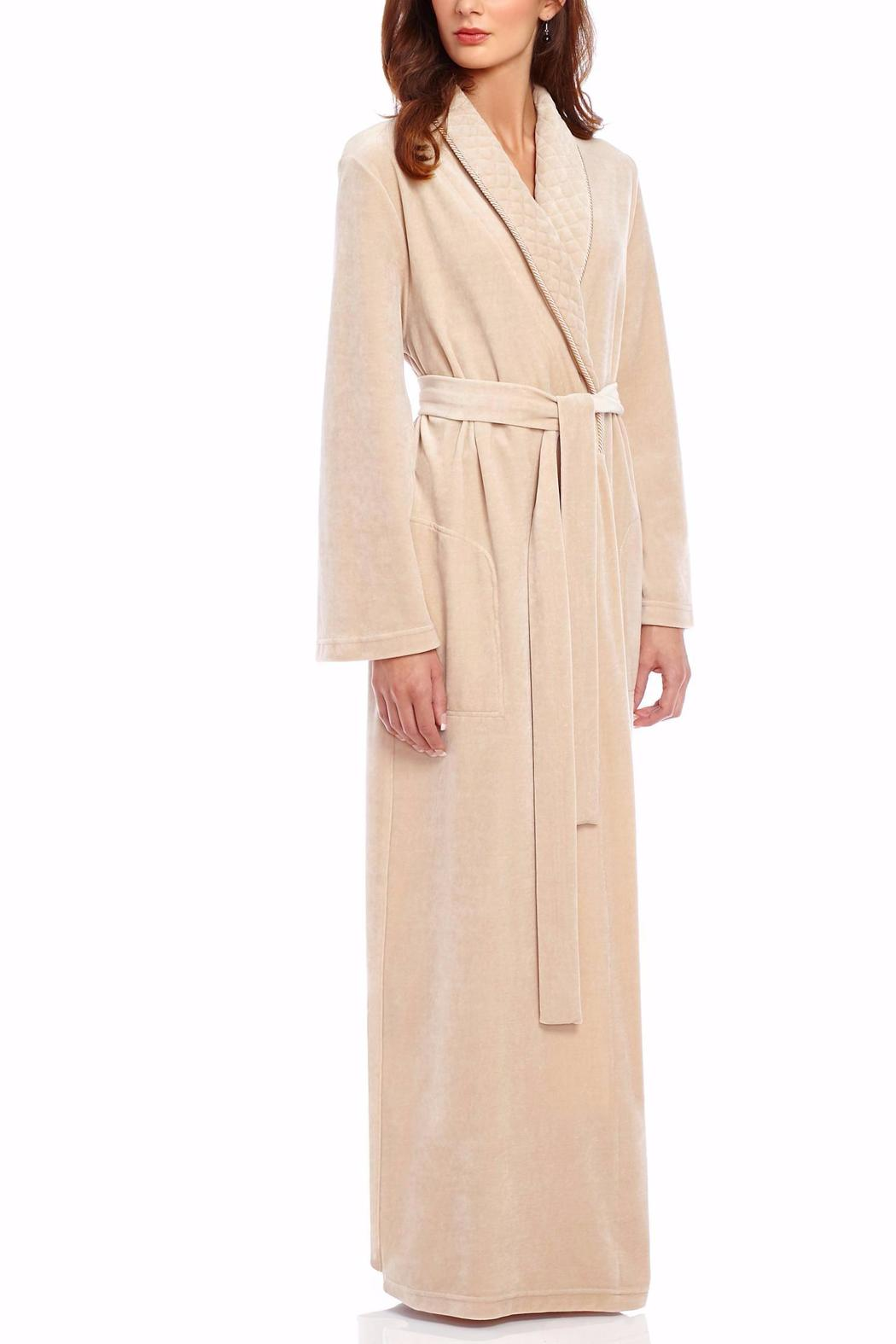 Diamond Tea Velour Wrap Robe From Brooklyn By The Lingerie